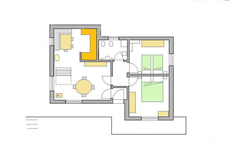Pianta casa vacanze Affitto Appartamento 28148 Selva di Cadore