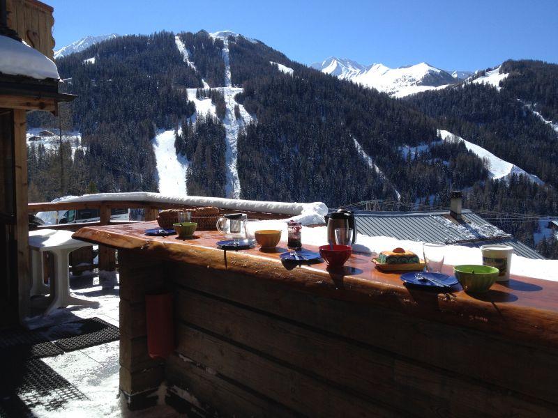 Vista dal terrazzo Affitto Chalet 31596 La Plagne