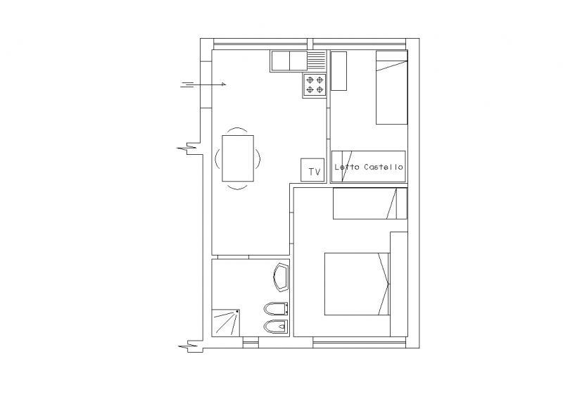 Pianta casa vacanze Affitto Casa 32067 Termoli