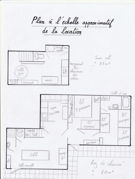 Pianta casa vacanze Affitto Appartamento 40301 Les Sept Laux