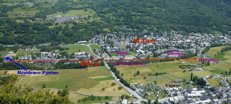 Mappa Affitto Appartamento 4397 Saint Lary Soulan