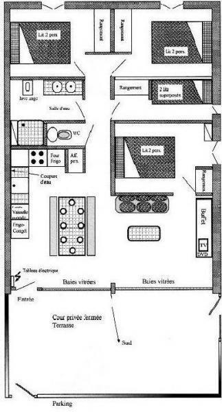 Pianta casa vacanze Affitto Appartamento 4397 Saint Lary Soulan