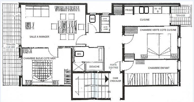 Pianta casa vacanze Affitto Appartamento 50542 Rosas