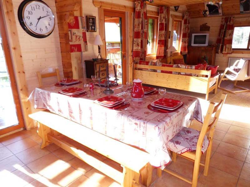 Sala da pranzo Affitto Chalet 526 Ancelle