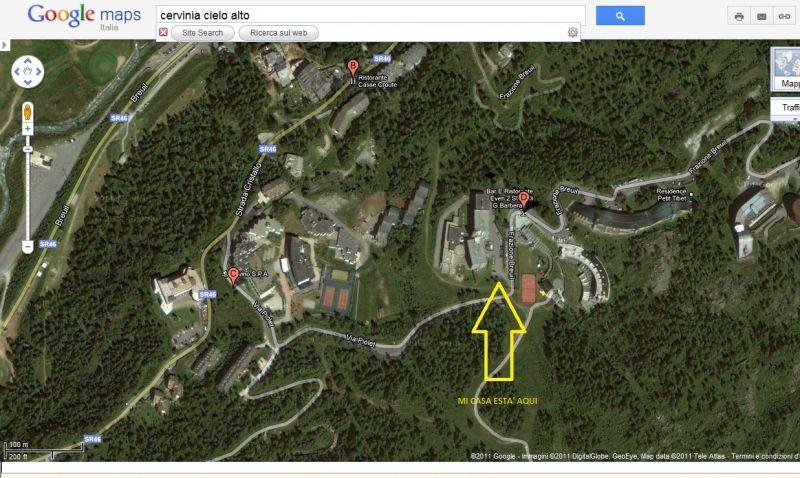 Pianta casa vacanze Affitto Monolocale 54302 Cervinia (Breuil)