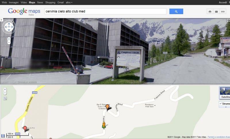 Mappa Affitto Monolocale 54302 Cervinia (Breuil)