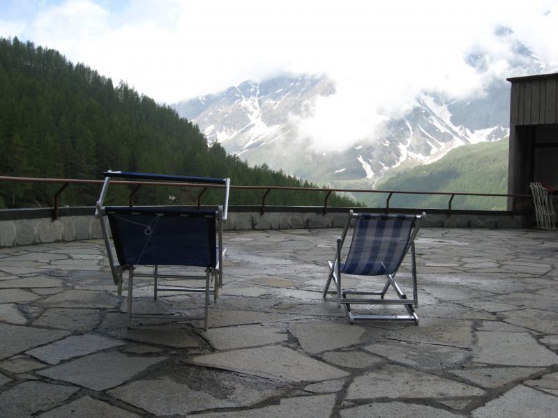 Vista dal terrazzo Affitto Monolocale 54302 Cervinia (Breuil)