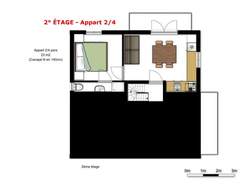 Pianta casa vacanze Affitto Chalet 56090 La Plagne