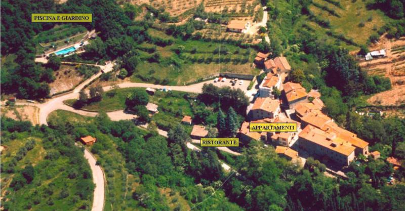 Vista dalla casa vacanze Affitto Agriturismo 57056 Arezzo