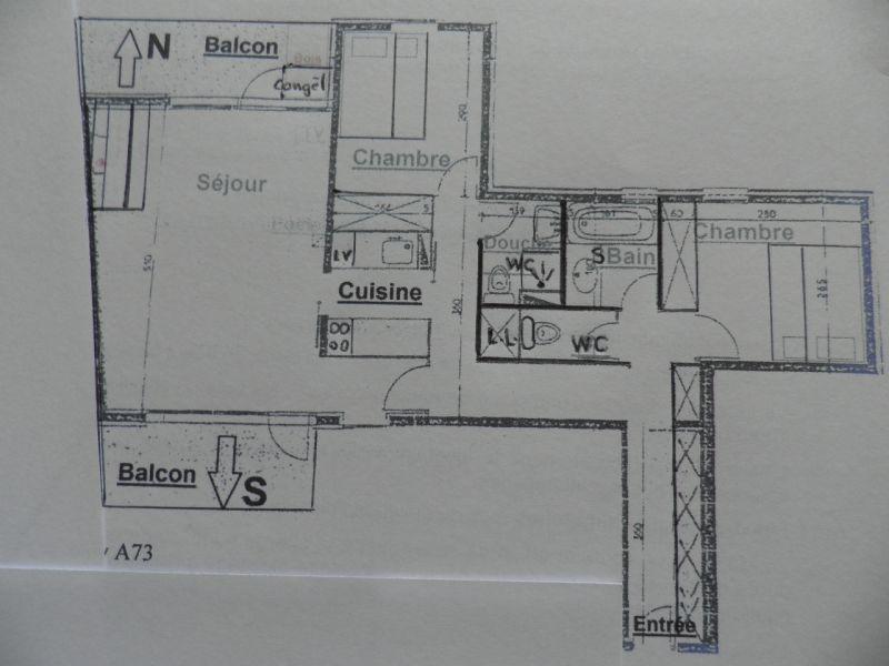 Pianta casa vacanze Affitto Appartamento 58207 La Plagne