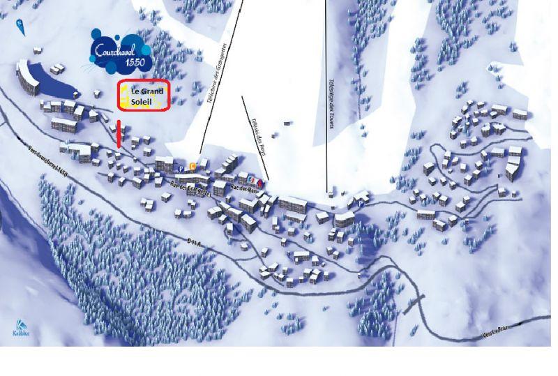 Mappa Affitto Chalet 58837 Courchevel