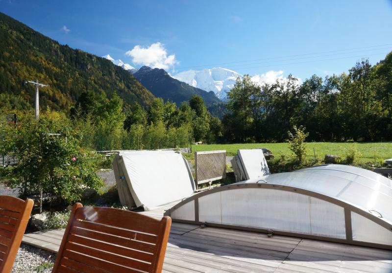 Vista dal terrazzo Affitto Appartamento 59034 Saint Gervais Mont-Blanc