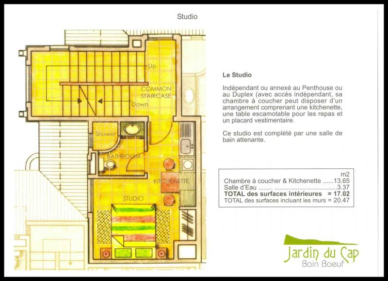 Pianta casa vacanze Affitto Monolocale 59750 Péreybère