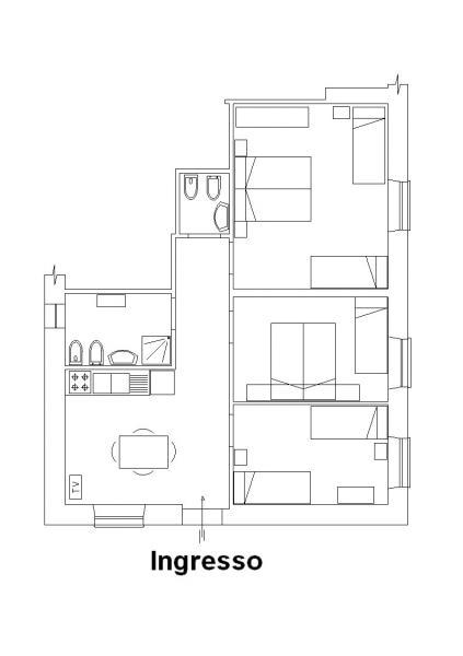 Pianta casa vacanze Affitto Appartamento 62535 Termoli