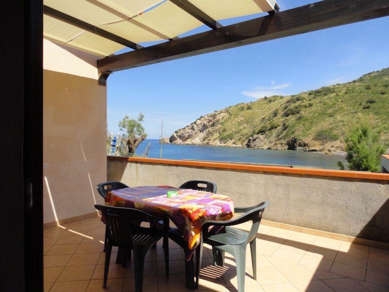 Vista dal terrazzo Affitto Appartamento 62556 Rio nell'Elba
