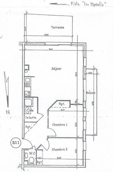 Pianta casa vacanze Affitto Appartamento 97230 Valloire