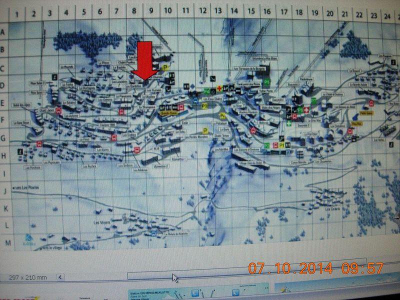 Mappa Affitto Monolocale 65005 Orcières Merlette