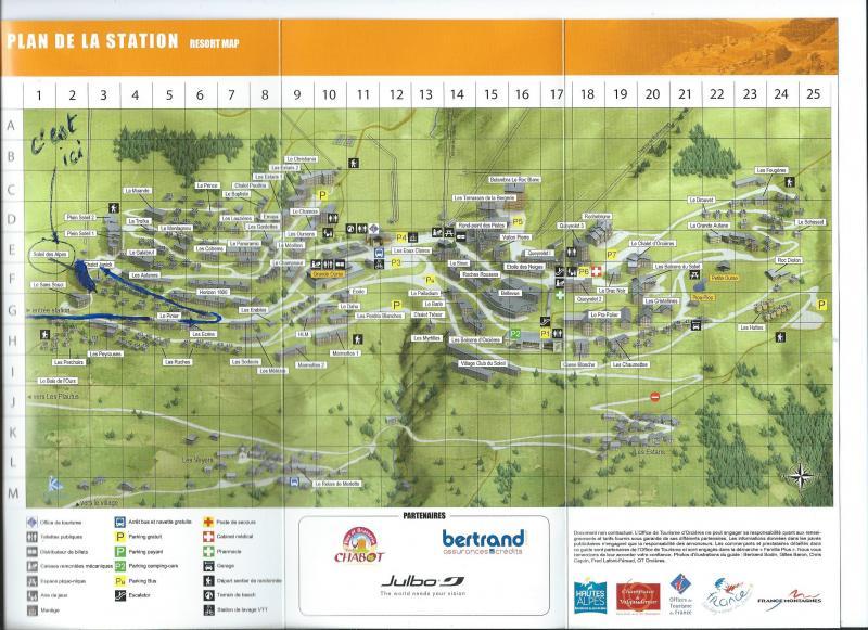 Mappa Affitto Appartamento 75311 Orcières Merlette