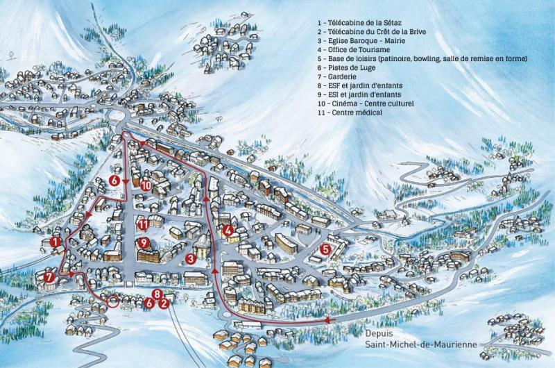 Mappa Affitto Chalet 81297 Valloire