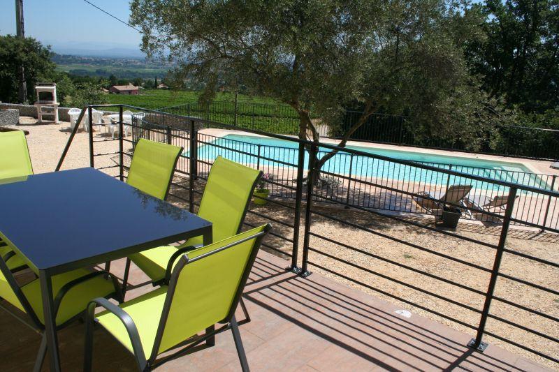 Vista dal terrazzo Affitto Villa  100704 Saint-Julien-de-Peyrolas