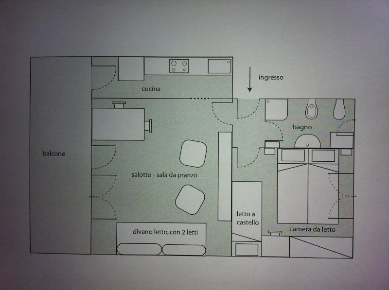 Pianta casa vacanze Affitto Appartamento 75601 Levanto