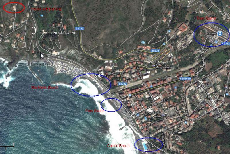 Mappa Affitto Appartamento 75601 Levanto