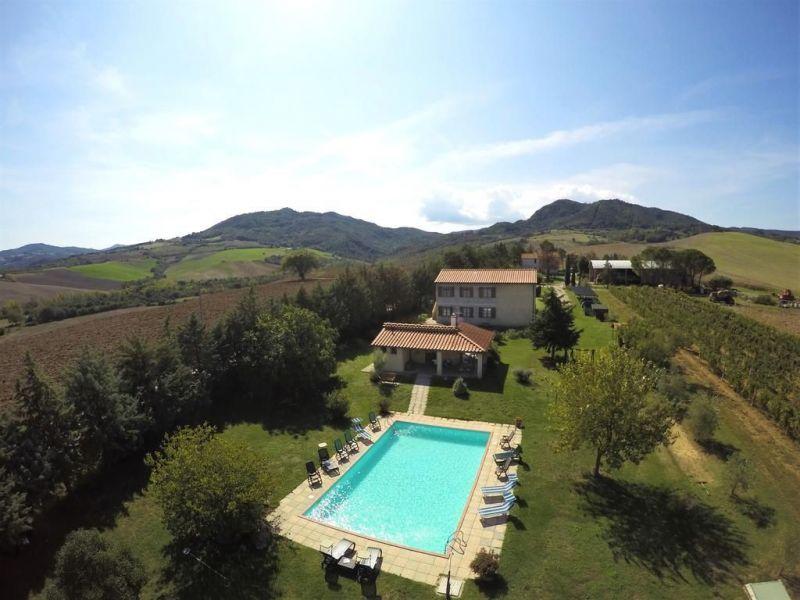 Vista dalla casa vacanze Affitto Agriturismo 106681 Volterra