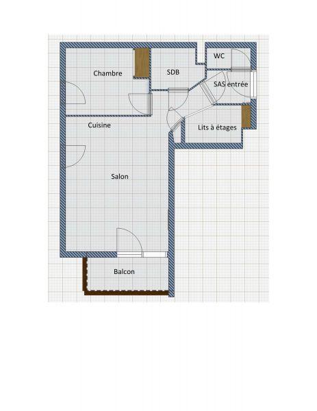 Pianta casa vacanze Affitto Appartamento 118170 Orcières Merlette