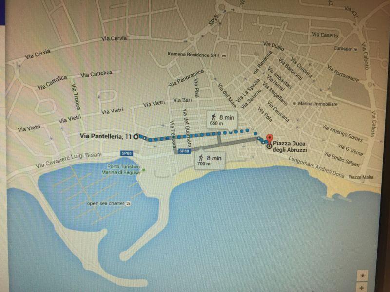 Mappa Affitto Appartamento 103248 Marina di Ragusa