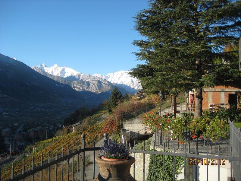 Vista dalla casa vacanze Affitto Appartamento 75618 Aosta