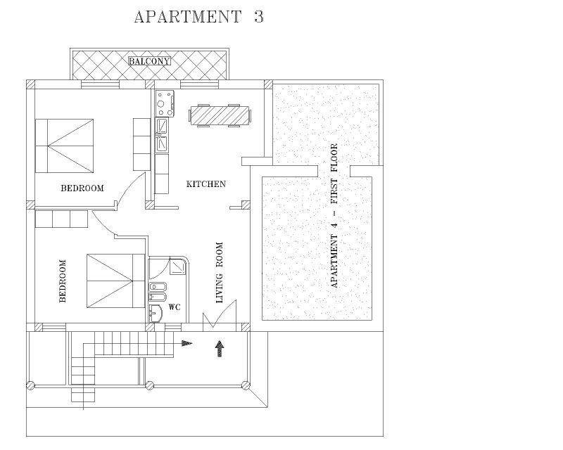Pianta casa vacanze Affitto Appartamento 89629 Pisciotta