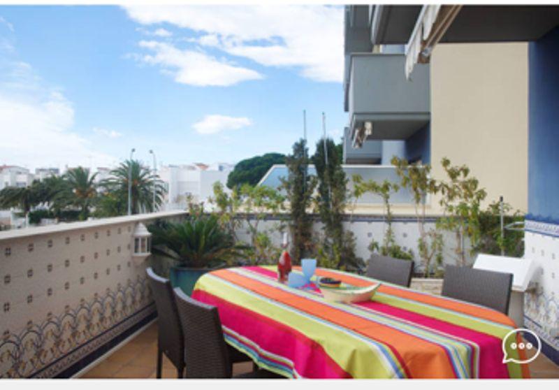 Vista dal terrazzo Affitto Appartamento 8306 Rosas