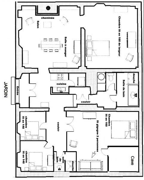 Pianta casa vacanze Affitto Appartamento 108350 Pra Loup
