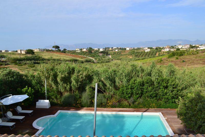 Vista dal terrazzo Affitto Villa  111636 Castellammare del Golfo