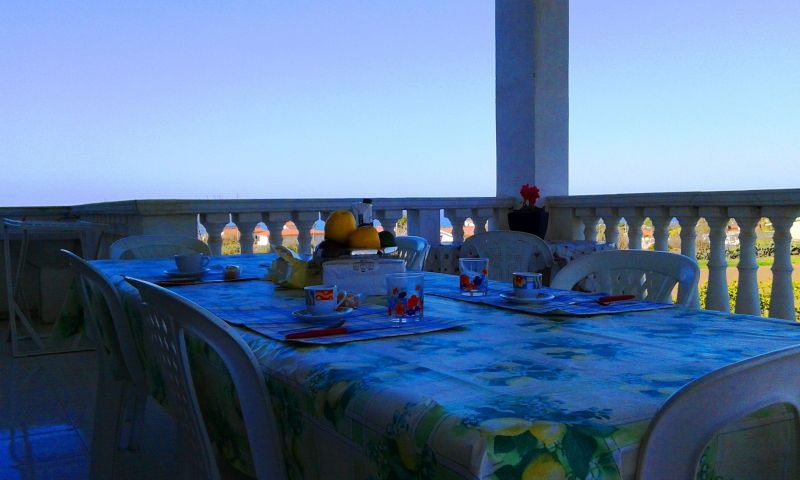 Vista dal terrazzo Affitto Villa  114175 Capo Vaticano
