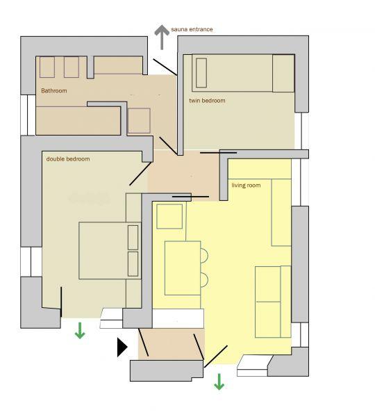 Mappa Affitto Appartamento 94729 Falcade