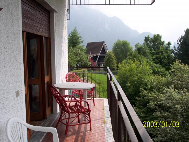 Vista dal balcone Affitto Appartamento 79271 San Pellegrino Terme