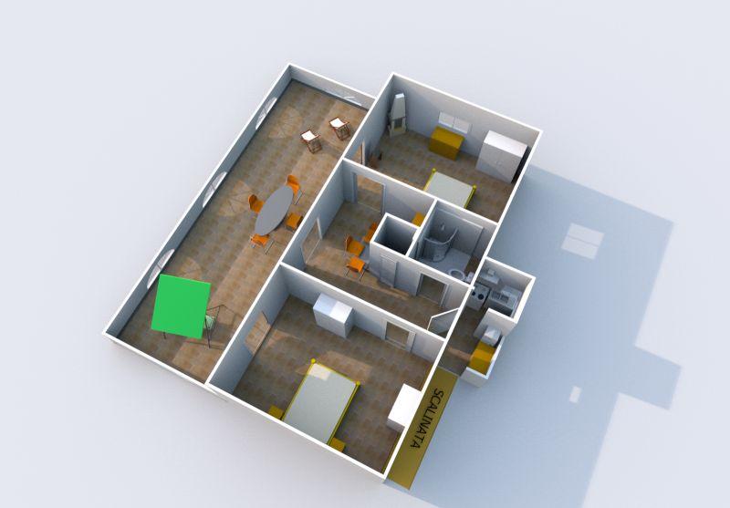 Pianta casa vacanze Affitto Appartamento 87898 Marina di Camerota