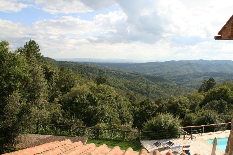 Vista dal balcone Affitto Agriturismo 109624 Siena