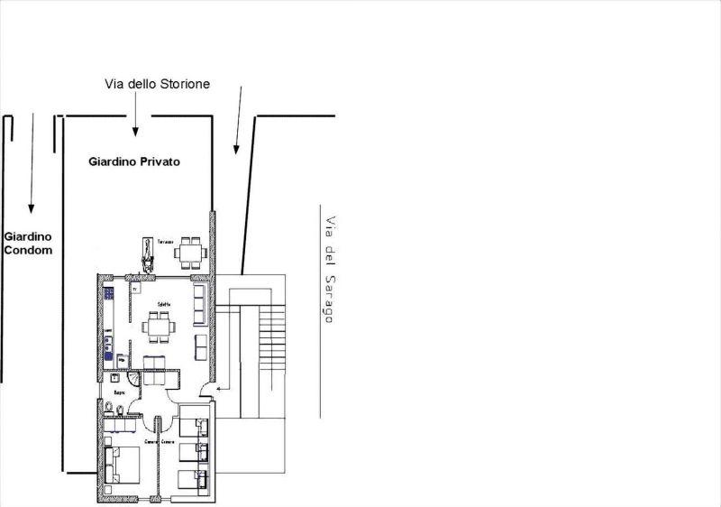 Pianta casa vacanze Affitto Appartamento 113139 Principina a Mare