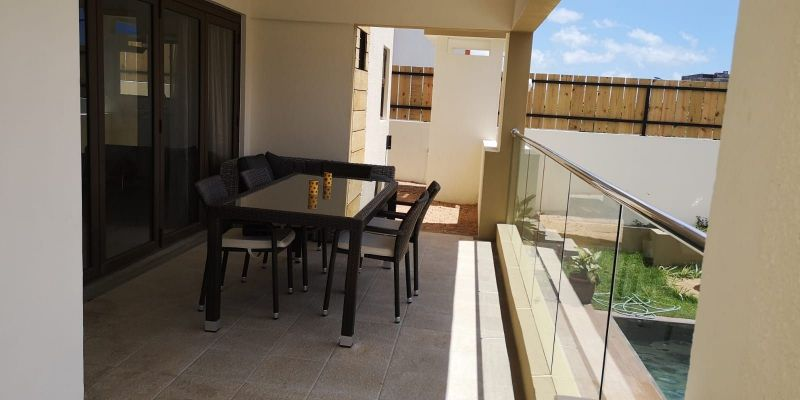 Vista dal terrazzo Affitto Villa  117884 Flic-en-Flac