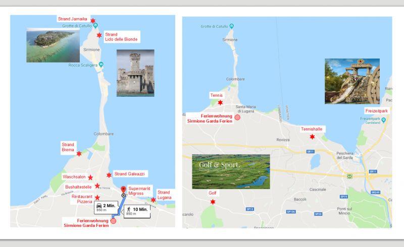 Mappa Affitto Appartamento 114486 Sirmione