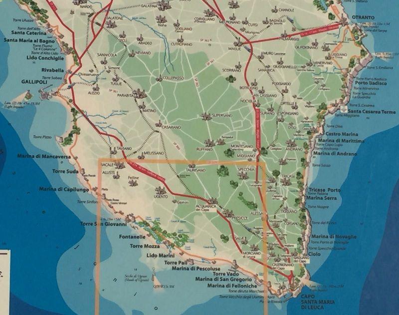 Mappa Affitto Monolocale 116502 Torre Vado