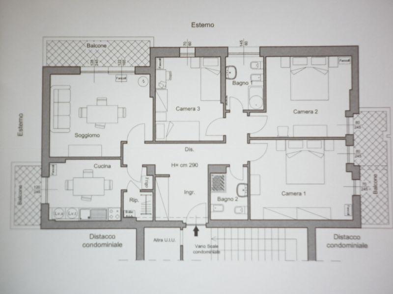 Pianta casa vacanze Affitto Appartamento 117850 Sestri Levante