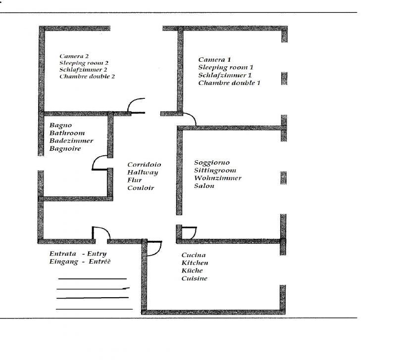Pianta casa vacanze Affitto Appartamento 78009 Toscolano-Maderno