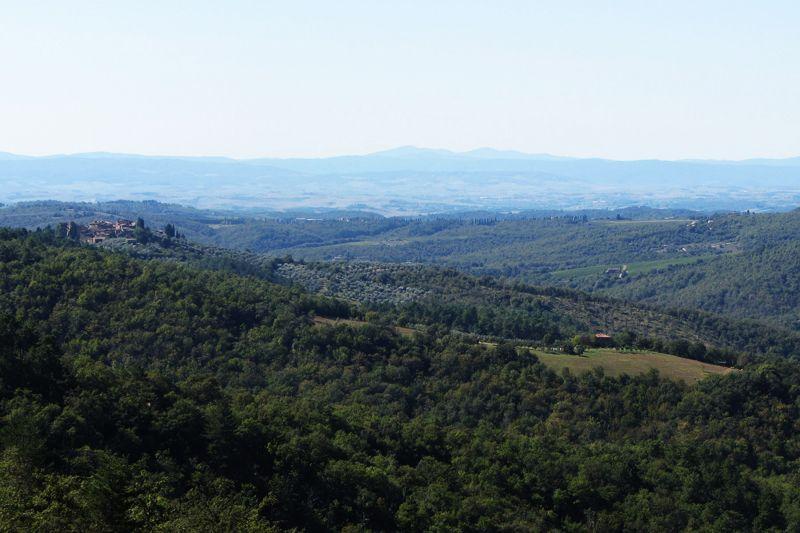 Vista dal terrazzo Affitto Agriturismo 84892 Siena