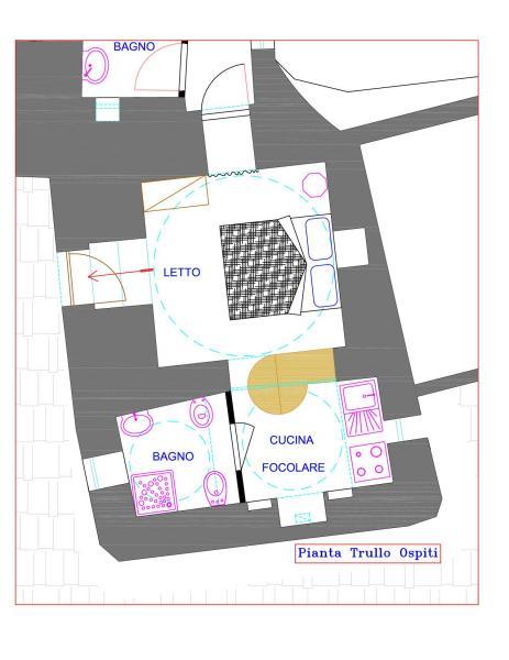 Pianta casa vacanze Affitto Alloggio insolito 85263 Martina Franca