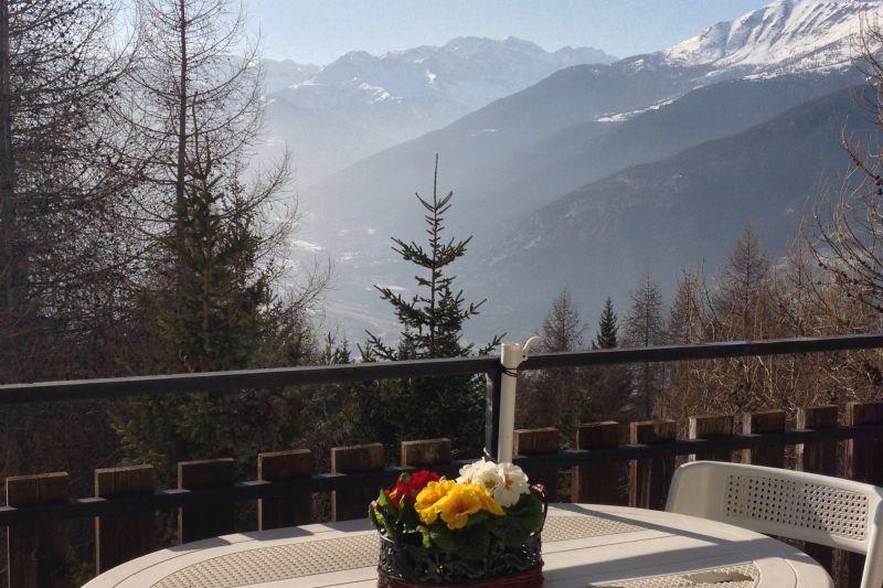 Vista dal terrazzo Affitto Appartamento 108426 Sauze d'Oulx