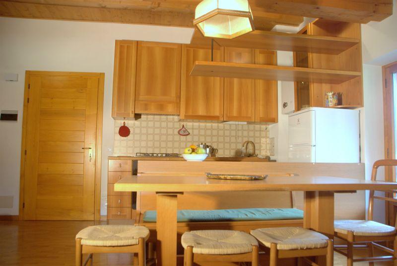 Cucina all'americana Affitto Appartamento 110944 Falcade