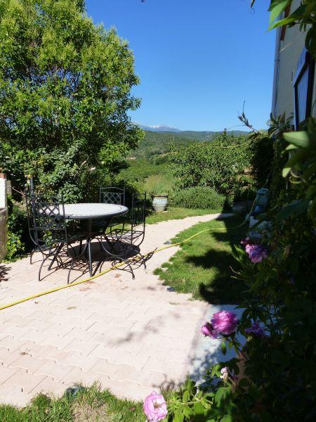 Vista dal terrazzo Affitto Monolocale 115684 Ceret